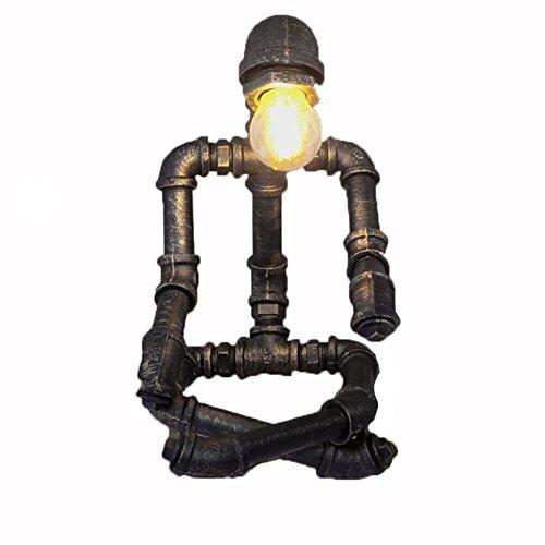 GBT Retro- Kreative Lampenaugendekoration Personifizierte Wasserrohrlampe (Led-Leuchten, Warmes Licht, Weißes Licht, Kronleuchter, Innenbeleuchtung, Außenleuchten, Wandleuchten) -