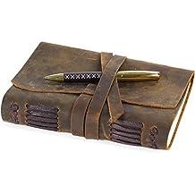 Diario De Cuero, Diario De Viaje, Cuaderno De Escritura Hecho a Mano Vintage Para