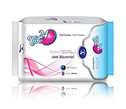 24care Anti Bacterial Ultra Day & Night 280mm XL Sanitary Pad Napkins(8 pcs)