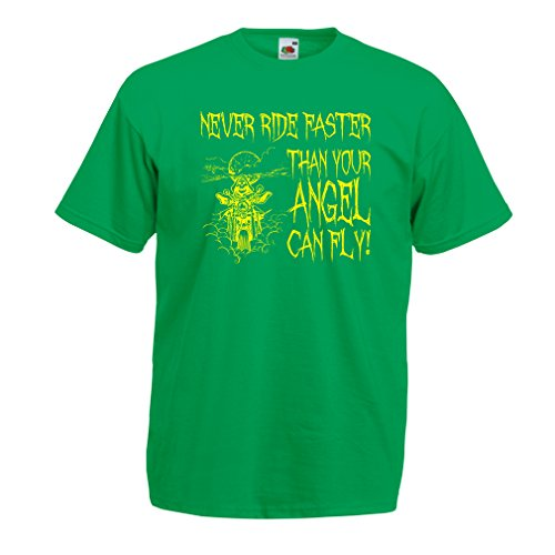 lepni.me N4694 T-Shirt da Uomo Motorcycle Quotes Sayings for Bikers (Medium Verde