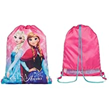 Disney Frozen Anna Elsa natación deportes gimnasio zapatos de cordón PE Bolsas Escuela Mochila Regalos para niñas para niños para mujer, piscina viaje rosa