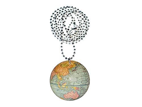 Miniblings Globus Halskette Kette 80cm Holz Laserprint LC Erde Erdkugel Welt