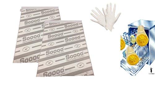 Dunst-Flachfilter für Flachhauben inkl. Einweghandschuhe, Signalstarke Sättigungsanzeige, 2er Pack, Je 2 Stück 47 x 57 cm