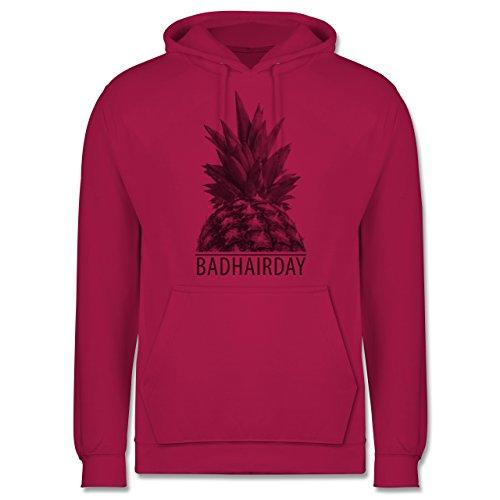 Statement Shirts - Badhairday - Ananas - Männer Premium Kapuzenpullover / Hoodie Fuchsia