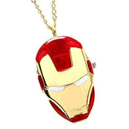 Taschenuhr-Iron-Man-Halskette-Anhnger-Taschenuhren-fr-Mnner-Taschenuhr-Geschenk-fr-Jungen