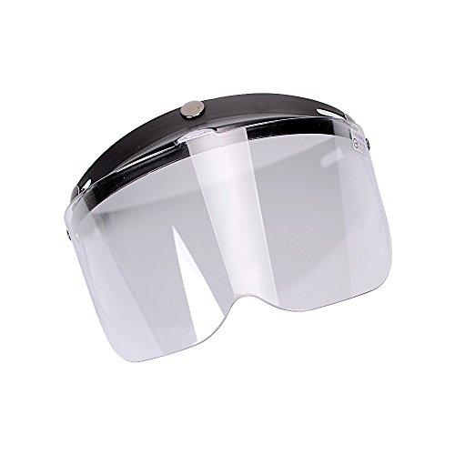 06292402be Astra Depot 3-snaps flip-up Visera Full Face Shield para motocicletas para  abierto