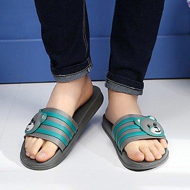 zhENfu donna pantofole & amp; flip-flops gomma Slingback Estate Casual Stampa animale tacco piatto Nero Grigio Blu Marrone Flat Pool