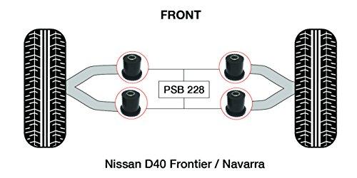 PSB polyuréthane Bush (2005-2014) D40 Frontier supérieur avant bras de Bush - Psb-228