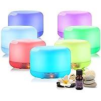Maverick - Humidificador de Aromaterapia 500ml con Mando a Distancia, 14 Colores LED y ACEITE INCLUIDO. Difusor de Aceites Esenciales Silencioso Ultrasónico, Ideal para Bebé y Oficina. Aromatizador.