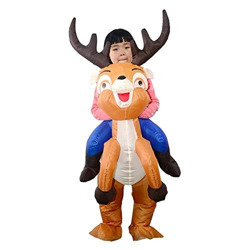 heling896 Weihnachten Aufblasbare Kostüm, Elch Luftanzüge Mit Gebläse Rentier Für Kinder Party Spielzeug Kostüm Bühnen Performance Maskerade Requisiten