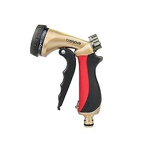 Pistola da Giardino | Crenova HN-05 Pistola Irrigazione con 9 Spruzzi Diversi / Pistola Spray ad Alta Pressione per Autolavaggio, Irrigazione Giardino/ Prato,Pulizia Camera/ Pedana/ Pavimento