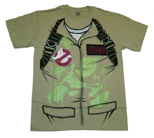 Ghostbusters Venkman Costume Shirt - Glow in the Dark Khaki - S to XXL - low cost alternative to a full costume