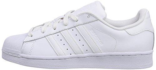 adidas Superstar Foundation, Unisex-Erwachsene Sneakers, Weiß (Ftwr White/Ftwr White/Ftwr White), EU 44 -