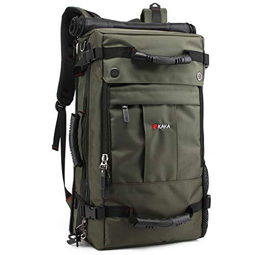 Outdoor-Rucksack mit großer Kapazität, beiläufiger Rucksack der männlichen Reisetasche, Mittelschüler-Computer mit wasserdichtem Rucksack dunkelgrün