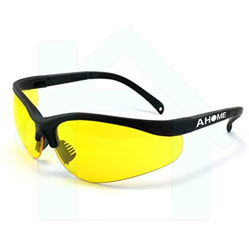 AHOME Protección UV gafas de seguridad ajustable con funda protectora