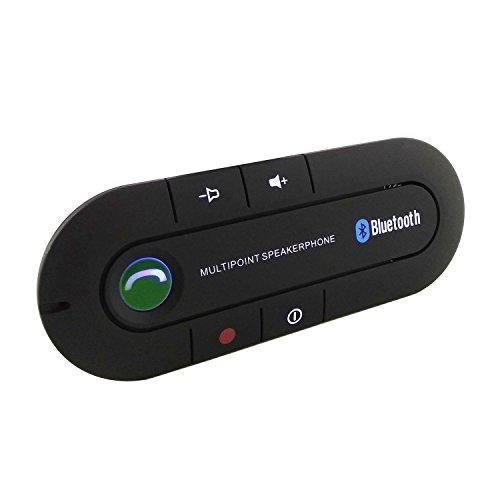 Kit de Manos Libres Receptor Bluetooth para Coche Packs Bluetooth 4.1 Altavoces Mano libre Automóvil con Soporte de la Visera GPS A2DP Música Universal para iPhone Samsung etc.