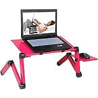 mkki soporte para portátil multifuncional mesa plegable para ordenador portátil escritorio Cama Sofá bandeja 360 ruedas