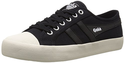 Gola Coaster, Baskets Basses Femme Noir (Black/black/off White)