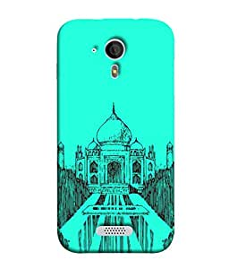 PrintVisa Designer Back Case Cover for Micromax Canvas HD A116 :: Micromax A116 Canvas HD (Art Sketch Modern Architecture Palace Marble Vacation Abstract)