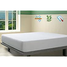 SAVEL, Protector de colchón Rizo 100% Bambú Impermeable y Transpirable, 105x190/200cm