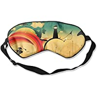 Sleep Eye Mask Digital Lamp Lightweight Soft Blindfold Adjustable Head Strap Eyeshade Travel Eyepatch preisvergleich bei billige-tabletten.eu
