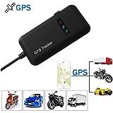 Hangang GPS Tracker, Localizador de Vehículo de Seguimiento en Tiempo Real GPS Locator para Coche, Moto, GSM, SMS, GPS, GPRS, App, Llaves Antirrobo