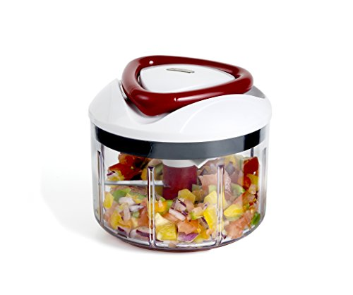 Zyliss Easy Pull Food Processor – Dishwasher safe, manual food processor with handle, in a compact design for quick…