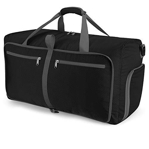 Orangeck Leichter Faltbare Reise-Gepäck mit Großer Kapazität, 60L Reisetasche Übernachtung Taschen Sporttasche für Männer und Frauen Weekender Faltbar Duffel Bag mit Schuhfach