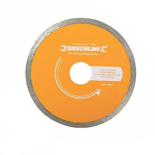 Silverline 918528 Diamant-Fliesentrennscheibe 200 x 25,4 mm, geschlossener Rand Test