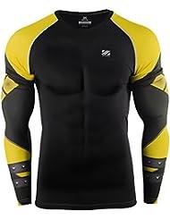 Zipravs Cool T-Shirt de compression manches longues Homme Gym Team