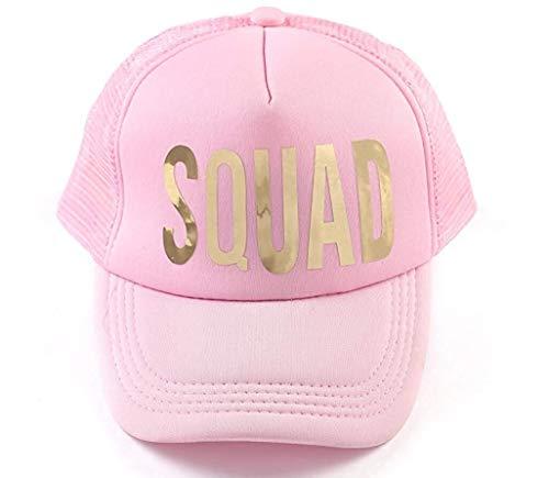 SOTTK Herren Damen Baseball Caps,Hüte, Mützen, Bachelorette Party Bride White Cap Gold Metalllic Trucker Hats