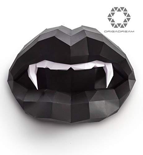 ORIGADREAM 3D Puzzle (Bereits ausgeschnittenen Einzelteilen) - Halloween Vampir-Mundstück: Falten,...