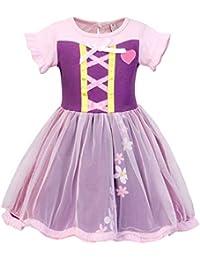 AmzBarley Vestito Principessa Biancaneve Anna Rapunzel Costume Bambina  Vestiti Costumi Carnevale Bambini Ragazza Abiti Festa Fantasia… 4d2bafc966c9