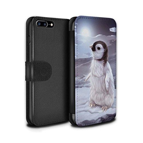 Offiziell Elena Dudina PU-Leder Hülle/Case/Tasche/Cover für Apple iPhone 8 Plus / Kleopatra/Golden Schlange Muster / Die Tiere Kollektion Der Reisende/Pinguin