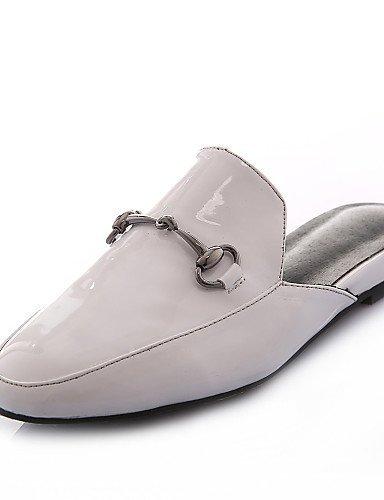 ShangYi gyht Scarpe Donna-Mocassini-Ufficio e lavoro / Formale / Casual-Punta arrotondata / Pantofole-Basso-Lustrini / Materiali personalizzati- White