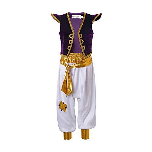 Kinder Aladdin Kostüm - Pettigirl Jungen Arabian Prince Kostüm Street Rat Anzüge