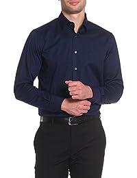 Roberto Cavalli - Men s Slim Fit Shirt FSR700 - Blue (Navy), 41 57a9dc7577