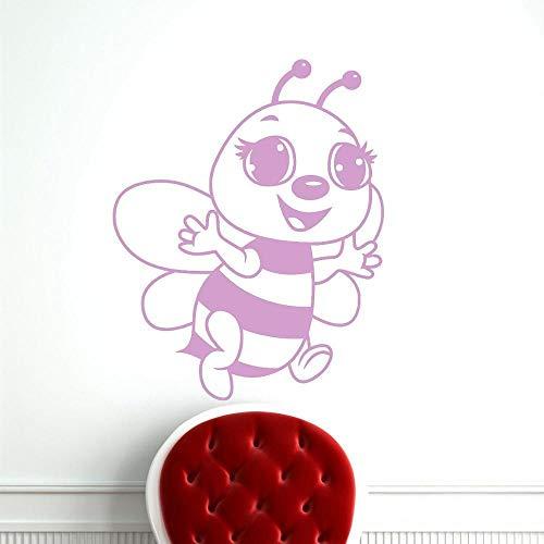 Cute Bee Decalcomania da muro Cartoon Bee rimovibile Vinyl...