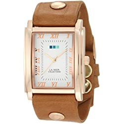 La Mer Collections Damen LMHOZ5002 Oversize Square Collection Sand Oversize Square Armbanduhr