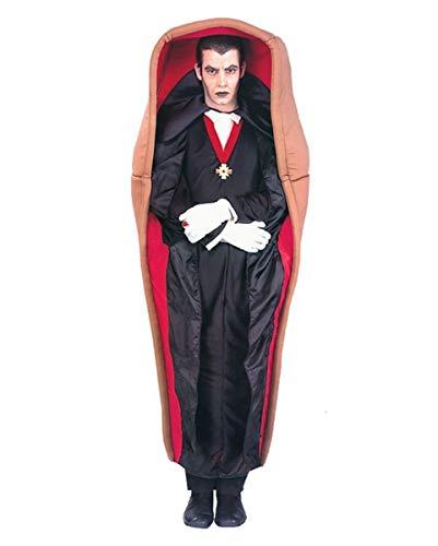Horror-Shop Vampir im Sarg - Dracula Halloween Kostüm (Dracula Sarg Kostüm)