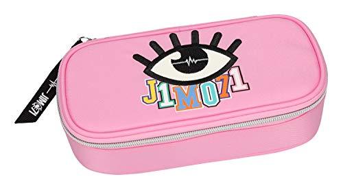 Depesche 10313 - Schlampertasche mit Stiftschlaufen und Geodreieckfach, Lisa und Lena J1MO71, rosa