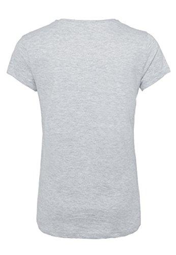 Rock Angel Damen T-Shirt mit Mickey Mouse Print | Leichtes Baumwoll Shirt mit Statement Aufdruck Light-Grey