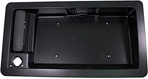 APDTY 91026 Exterior Rear Right Cargo Door Handle w/License Plate Housing Frame Bracket For 1992-2008 Ford Econoline E150 E250 E350 E450 Van (Replaces Ford 6C2Z-15434A20-AA, 6C2Z15434A20AA) by