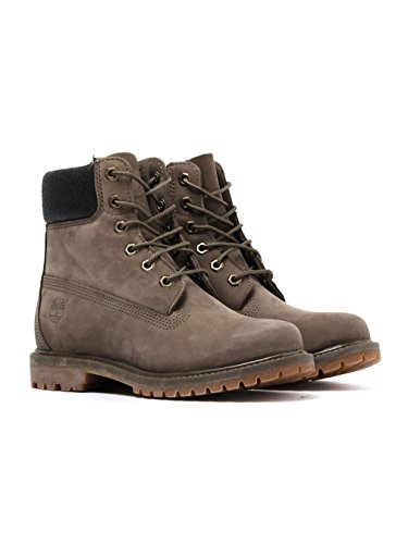 Timberland Premium 6 Boot Canteen Nubuck Metallic Collar - 7 UK