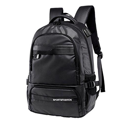 Sxelodie laptop computer zaino computer maschio/femmina/studente, grande capacità impermeabile con usb ricarica jack per cuffie, viaggiare 29 * 14 * 46cm,3