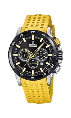 Festina Herren Chronograph Quarz Smart Watch Armbanduhr mit Silikon Armband F20353/5