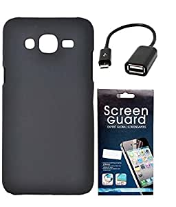 Hermit Back Cover Plus OTG Cable Plus Screen Guard For Samsung Galaxy J5 -Black