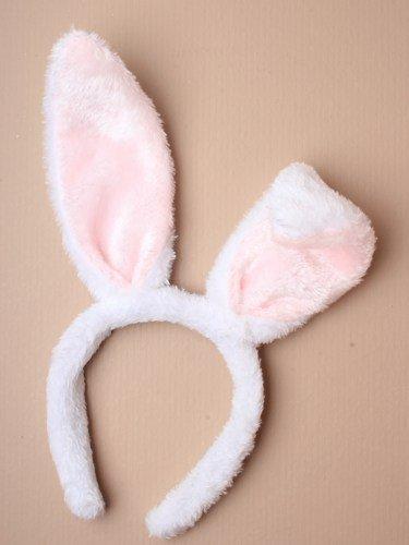Alice Band Weiß Bunny Ohren