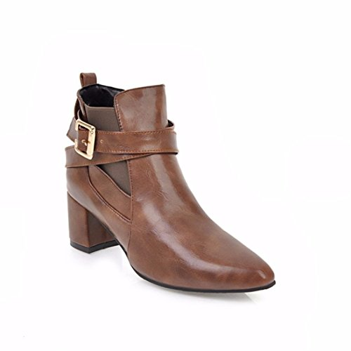 European and American l'automne et l'hiver chaussures femmes grandes boucles de ceinture et de code Bottes courtes