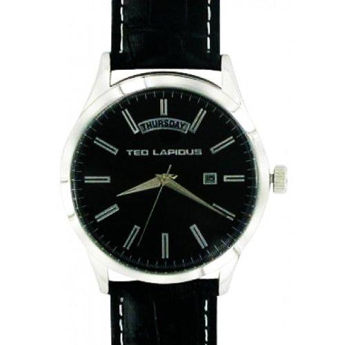 Ted Lapidus 5124207 - Reloj para hombres, correa de cuero color negro